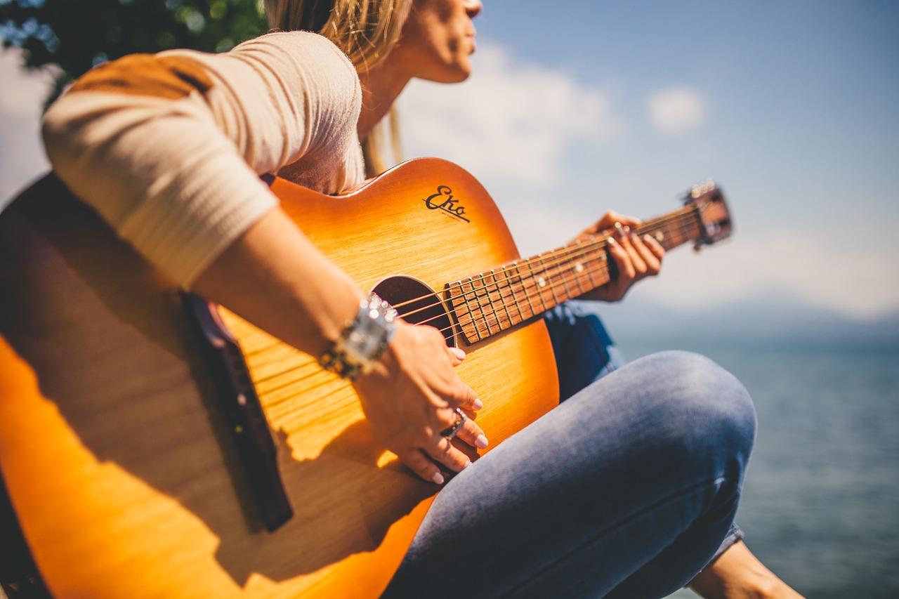 acoustic, guitar, musician