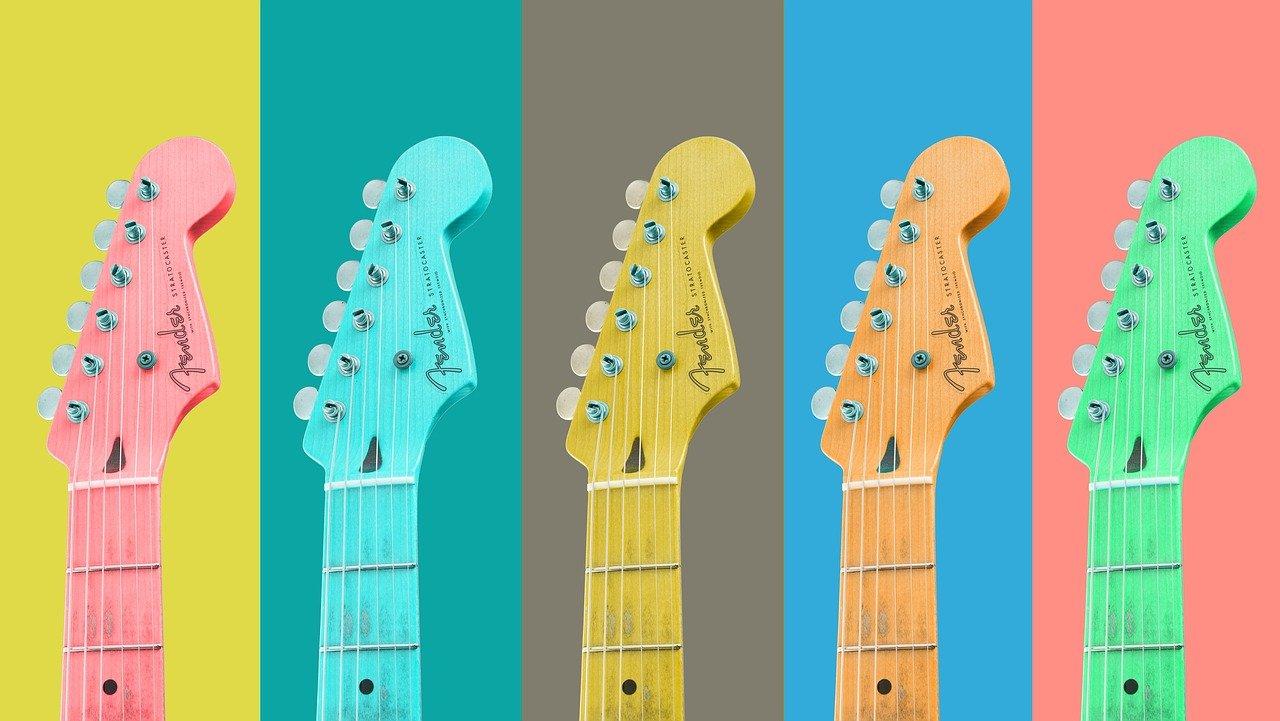 guitars, strings, musical instruments