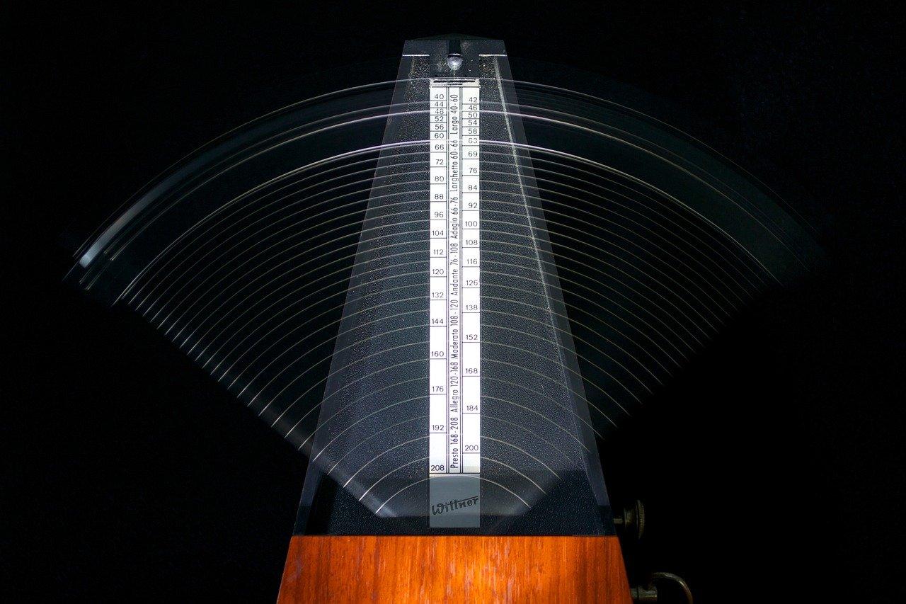 metronomes, tempo, tick
