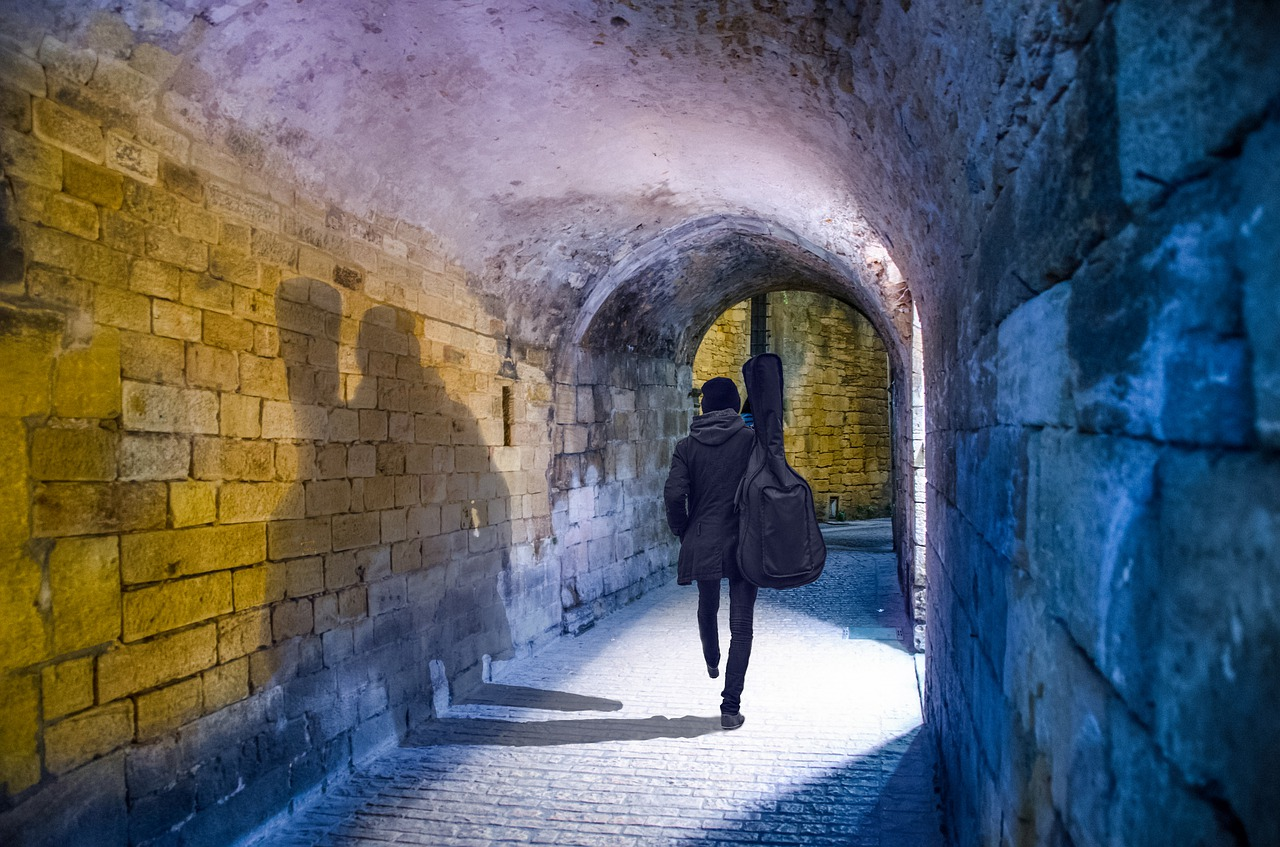 tunnel, architecture, wall